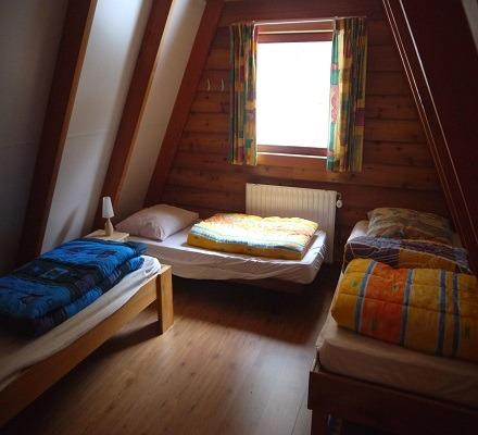 Slaapkamer 1 van het vakantiehuis
