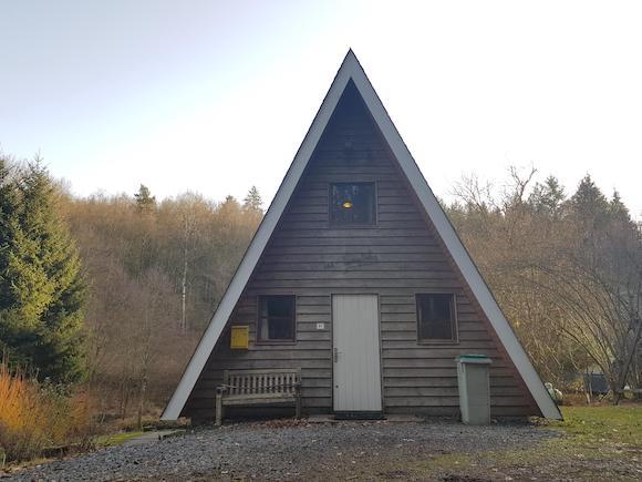 Afbeelding vooraanzicht van het vakantiehuis in de Ardennen, die te huur is